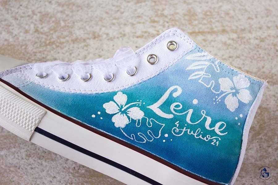 Zapatillas de comunion - niñas de comunion - zapatillas decoradas - lapizcreativo