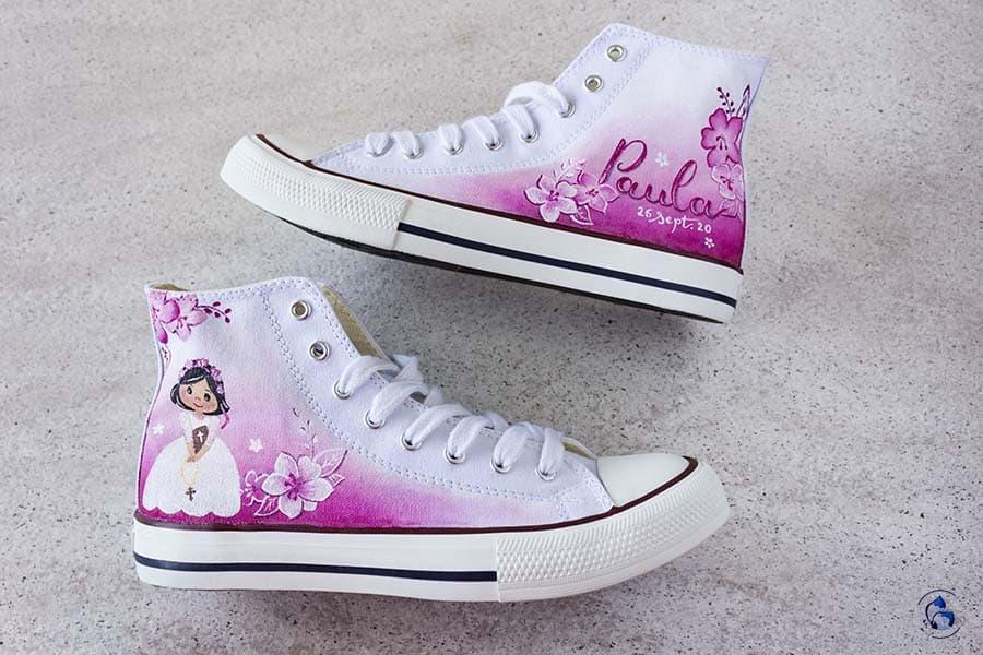 Zapatos de comunión _ converse para niñas _ LapizCreativo