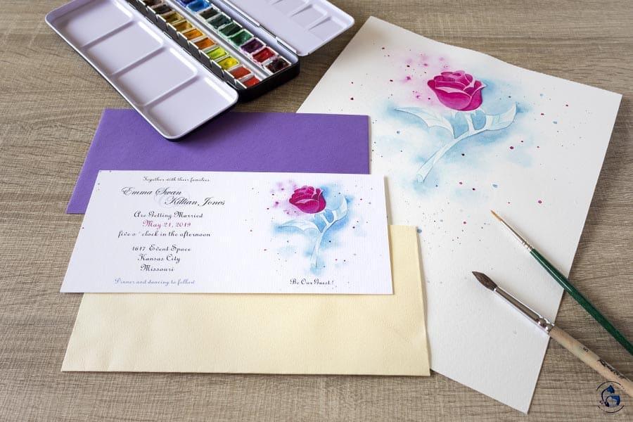 Invitacion Bella y Bestia _ Invitaciones disney