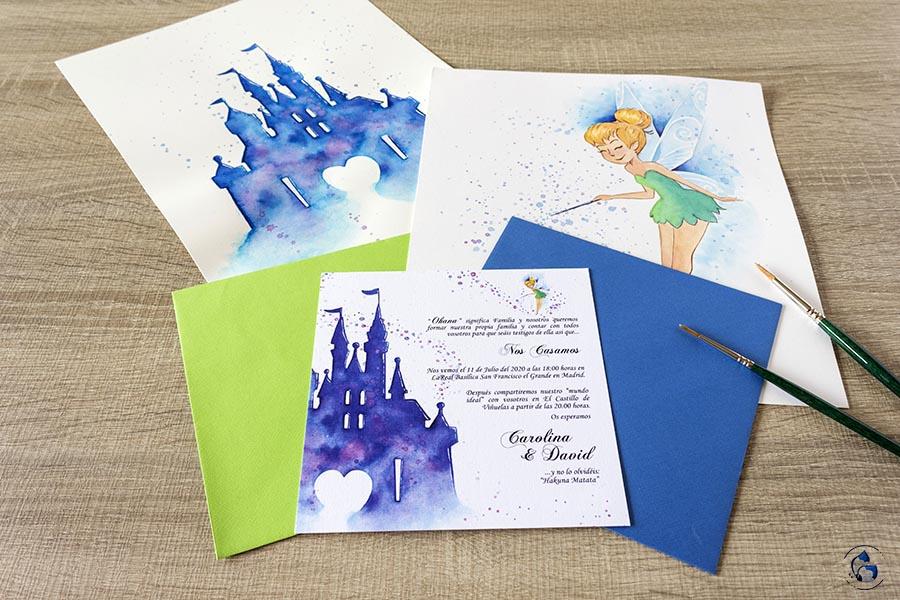 Invitacion Castillo Disney _ Invitaciones disney
