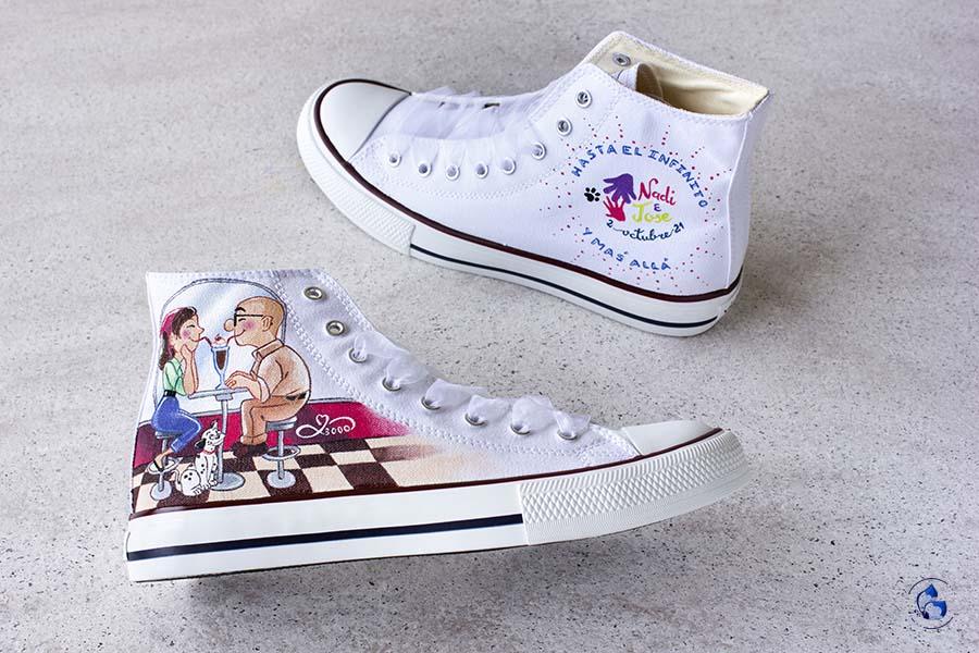 Zapatillas de novia _ zapatillas personalizadas _ Up pixar _ victoriashoes _ LapizCreativo