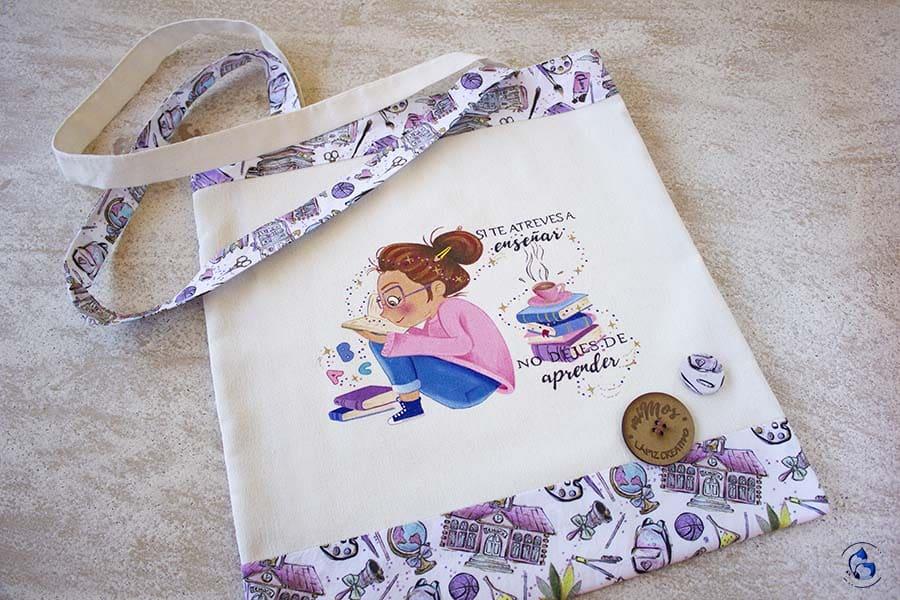 miMos bolsa de tela _ bolsas para profes _ regalos personalizados _ Lapizcreativo