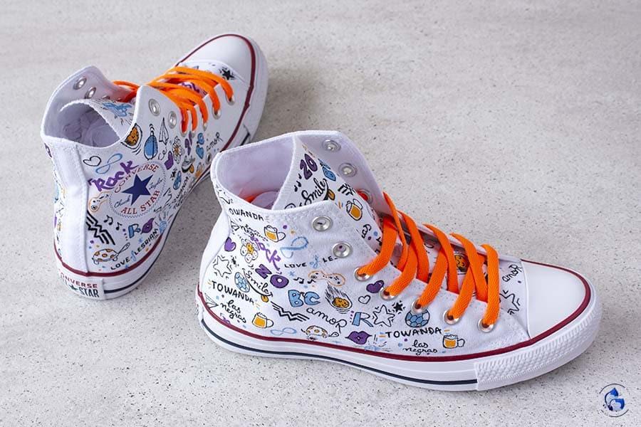 zapatillas personalizadas _ doodle art
