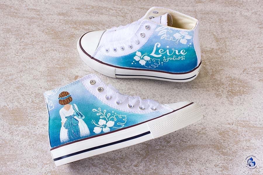 Zapatillas de comunion - zapatillas personalizadas - niñas de comunion - lapizcreativo
