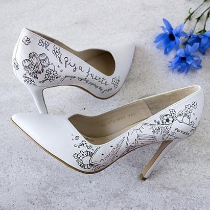 Zapatos de Novia Pintados a Mano _ LapizCreativo