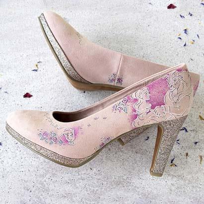 Zapatos inpirados en disney - zapatos de novia decorados - lapizcreativo