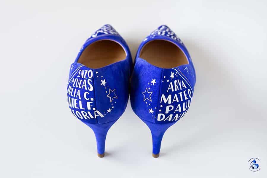 Regalos para profes - sus nombres en sus zapatos
